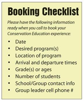 Booking checklist graphic